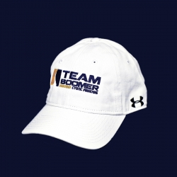 Team Boomer White UA Fitted Hat